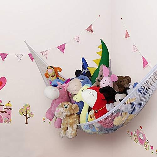 Auony Stofftier Hängematte, Netz-Spielzeug Hängematte, Spielzeug Aufbewahrung, Organisieren von Stofftieren oder Kinderspielzeug für Schlafzimmer, Spielzimmer, Badezimmer (Netz-hängematte Für Spielzeug)