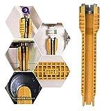 Wasserhahn-Schlüssel-Abbau-Werkzeug, Multifunktionshahn- und Wannen-Installateur, Reparatur und Installations-Handwerkzeuge für Toiletten-Badezimmer-Küchewannen-Hahn-Bassin-Rohr-Nuss-Klempnerarbeit