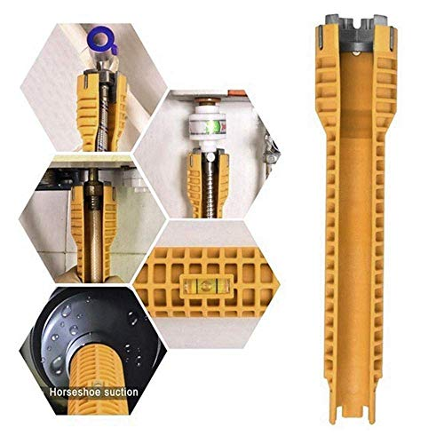 Wasserhahn-Schlüssel-Abbau-Werkzeug, Multifunktionshahn- und Wannen-Installateur, Reparatur und Installations-Handwerkzeuge für Toiletten-Badezimmer-Küchewannen-Hahn-Bassin-Rohr-Nuss-Klempnerarbeit -