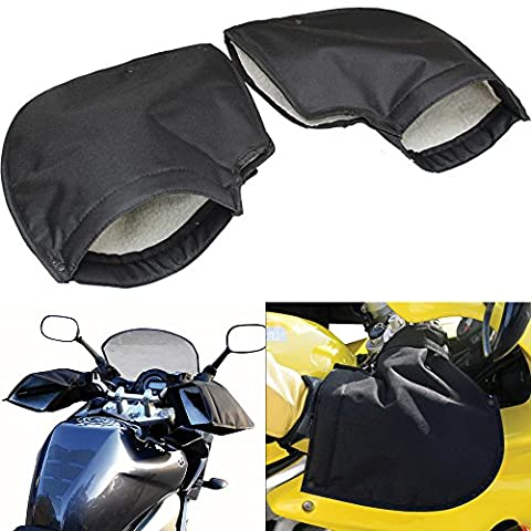 Motorbike Handlebar Muffs Thermal Hand Protector Mitts Gloves Fleece