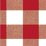MAURER - Mantel Hule Rollo 140cmx20m Cuadros Rojo
