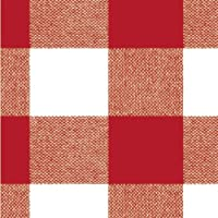 MAURER Mantel Hule Rollo 140cmx20m Cuadros Rojo