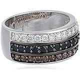 S. Oliver Damen-Ring 925 Silber Zirkonia mehrfarbig 419