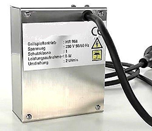 Grillmotor aus Edelstahl für Spieß NEU 10 kg belastbar Grill Motor 2 JAHRE GARANTIE !!! Made in Germany !