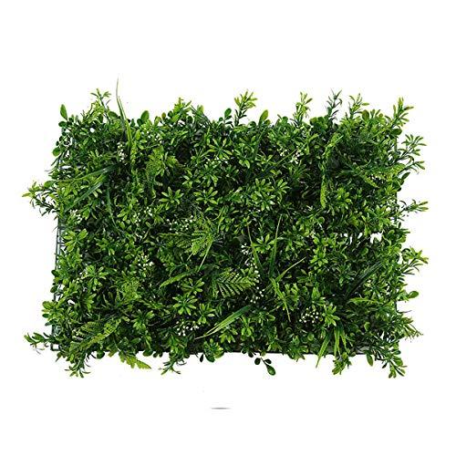 Yiyu 1pc Haie Artificielle Plante Verte, Panneaux de Verdure Mur Végétal Décoration Jardin Clôture Cour Plafond Restaurant, 60 * 40cm