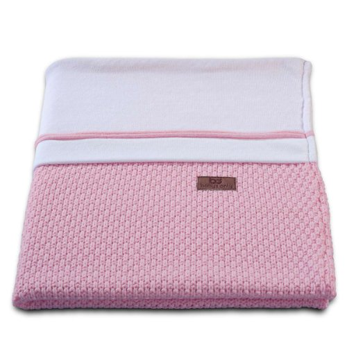 Baby's Only 161021 Babydecke Strickdecke Robust Korn, 90 x 75 cm, Baby Rosa