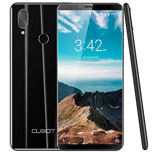 CUBOT X19 64GB 5.93-Inch FHD+ Android 8.1 4G Smartphone Unlocked with 4GB RAM, Dual Sim, 4000mAh Battery, 16MP Camera, Fingerprint Sensor,Face ID SIM-Free Moible Phone(Black)