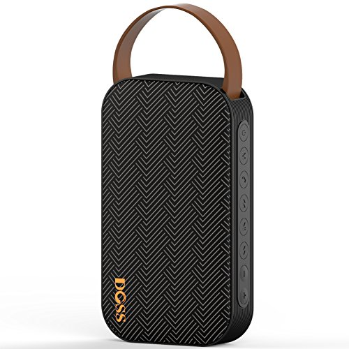 Doss SoundGo- Enceinte Portables , Bluetooth 4.0, Support USB HOST et Lecteur de Micro Cartes SD, Mains-libres, aux-in [Noir]