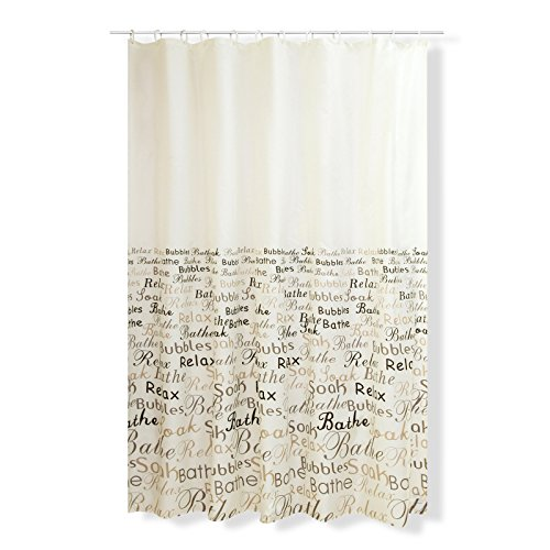 ROLLER Duschvorhang RELAX - weiß (Weiß Und Braun Duschvorhang)