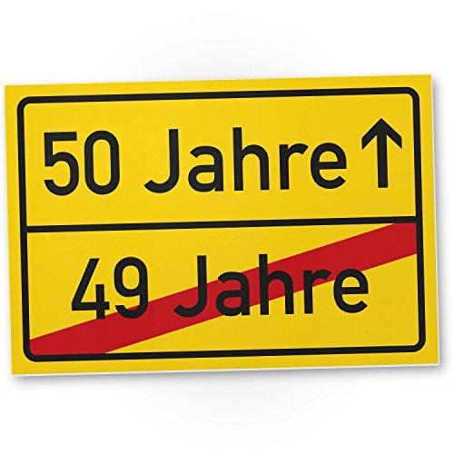 DankeDir! 50 Jahre (49 Jahre Vorbei) - Kunststoff Schild, Geschenk 50. Geburtstag, Geschenkidee Geburtstagsgeschenk Fünzigsten, Geburtstagsdeko/Partydeko / Party Zubehör/Geburtstagskarte (Schild Geburtstag Party)
