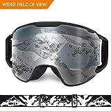 WLZP Gafas de esquí, OTG Gafas Antideslizantes para Deportes de Nieve de Invierno con protección contra Rayos Ultravioleta, Resistentes a los rasguños a Prueba de Polvo