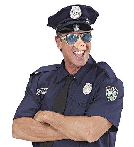 *** ANGEBOT *** - SCHWEINE COP - ( Mütze + Brille mit Nase ) Kombinationen Kostümkombinationen (Cop Brillen)