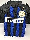 Pignatta Inter Milan (pentolaccia, piñata) Gioco della pignatta per piccoli tifosi interisti. Pignatta artigianale a sagoma della maglia dei calciatori.