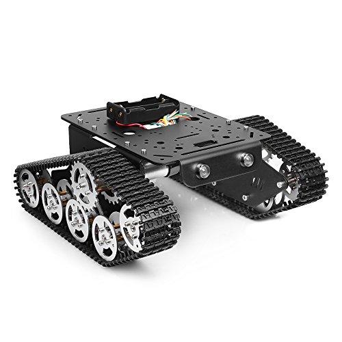 townsister Aufgespürtes Roboter intelligentes Auto Plattform Metallaluminiumlegierung Behälter Chassis mit starkem Doppel DC 9V Motor für Arduino Raspberry Pi DIY