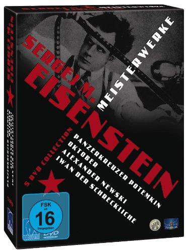 Bild von Sergej M. Eisenstein ( Panzerkreuzer Potemkin / Oktober / Alexander Newski / Iwan der Schreckliche Teil 1 + 2) [5 DVDs]