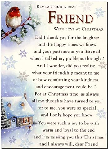 Grave Card - Grave Card - Remembering A Special Friend With Love At Christmas - Free Card Holder -