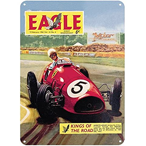Eagle Of The Road Red Race Car Front Cover A5 Tin Wall Sign Vintage Retro Gift