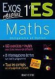 Maths 1e ES : Obligatoire et option