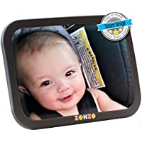 Zohzo Baby Car Mirror For Back Seat View Rear Facing Infant In Backseat Securely Fasten With Double Strap Pivot Joint To Easily Adjust To Desired Viewing Angle