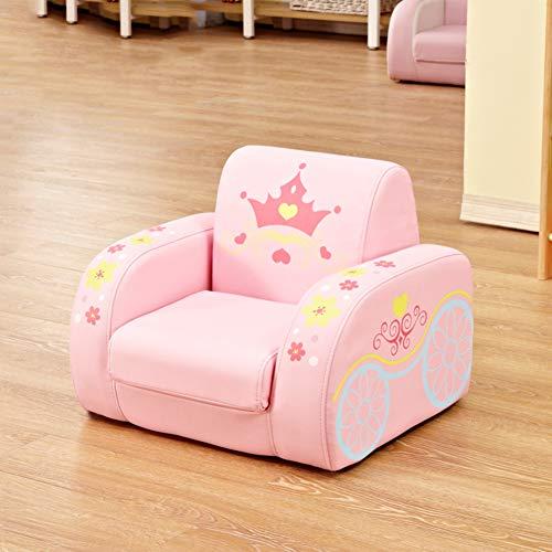 WAYERTY Kindersofa, Kindersessel Sleeper Liegesitz Single Möbel Cartoon Kindergarten Mini Baby-Couch Mini-Sessel-Rosa 50x45x40cm(20x18x16inch) - Sofa Couch Sleeper