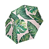 Umbrella Personalized Personalisierte Jungle Blätter Banana Fensterblätter Tragbar Regenschirm Fashion Folding Travel Regenschirm