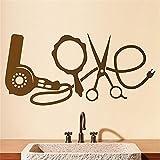 adesivo murale parrucchieri articoli per parrucchiere per salone di bellezza dal barbiere