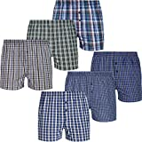 Mctam® Gewebte Herren Boxershorts Men 100% Baumwolle 6er Pack Basic Line, XXL, 6X Mix 3