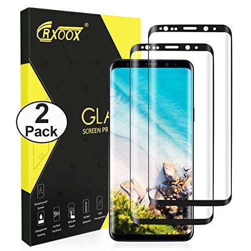CRXOOX Panzerglas Schutzfolie für Samsung Galaxy S9 Panzerfolie - 3D Volle Bedeckung Folie, 9H Härte Anti Kratzen Blasenfrei Einfache Installation HD Bildschirmschutzfolie Panzerglasfolie