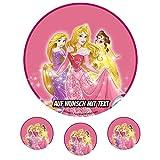 Tortenaufleger Geburtstag Tortenbild Zuckerbild Oblate Motiv: Disney Princess 02 (Oblatenpapier)