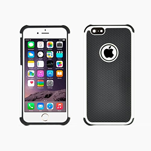 GHC Cases & Covers, Fußball Textur Kunststoff Fall für iPhone 6 & 6S ( Color : Orange ) White