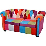 vidaXLChesterfield Sofa 2-Sitzer Loungesofa Couch Stoffsofa Polstersofa Stoff Design