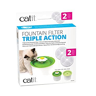 Catit Genuine Fountain Filters For 3 L Flower Fountain and Fresh and Clear Fountains Only