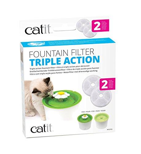 Catit Pack de 2 Filtres à Triple Action 2.0 pour abreuvoir pour chat