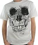 Camiseta hombre/Tattoo/gruesa de calavera blanco XXX-Large