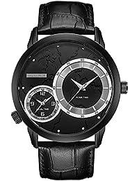 Dilwe Reloj Macho, Reloj de Cuarzo con Correa de Metal Rígida, 4 Colores,