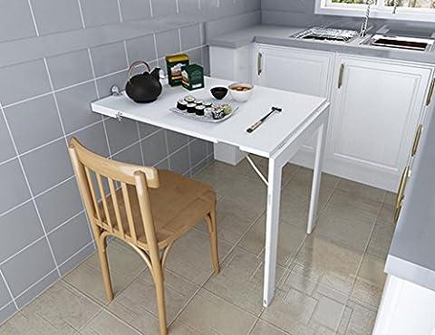 ZXLDP Faltender Computer-Schreibtisch Einfacher Laptop-Schreibtisch Wand-Tischtisch-Büro-Tabellen-kreative Speisetisch-Farbe Wahlweise Freigestellt ( Farbe : Weiß (Büro Platz Klapptisch)