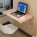 mesa plegable ZZHF Mesa colgante de madera maciza Mesa de trabajo Talla opcional Escritorios (Tamaño : 70*50cm)