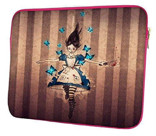 Snoogg Unbarmherziger Alice 43,2cm Zoll auf 44,5cm Zoll auf 44,7cm Zoll Laptop Notebook Schuber Sleeve Soft Case, der Fall für MacBook Pro Acer Asus Dell HP Sony Toshiba