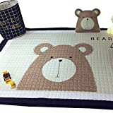 VClife® Teppich Baumwolle Polyester Kinderteppich Spielteppich Baby Karbbeldecke Kindchen Geschenk Gepolsterte Matte 145x190cm Bär