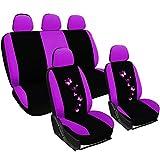 WOLTU AS7253 Couverture de siège de voiture ,housses de siège universelle polyester,Noir Fuchsia