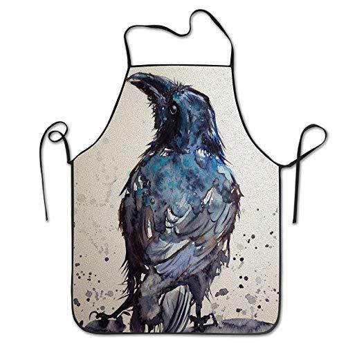 HTETRERW Adult Aprons Raven Black Crows Ink Painting Kitchen Woman Aprons Aprons Bulk Adultsimple