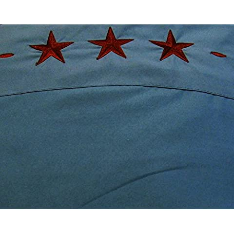 Western Star 4piezas juego de sábanas para cama 2fundas de almohada ajustable plano y hojas turquesa