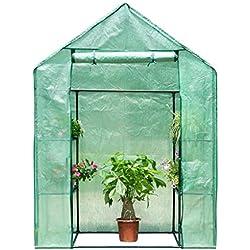 Finether 3-Tier Serre de Jardin Tente Abri Portable Garden Cover Serre à Tomate en PE Pour Intérieur Jardin Herbes Aromatiques Légume Fruit Balcon 143cm x 73cm x 195cm