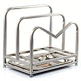 Edelstahl Schneidebrett, RackDeckenhohe, erweitern Sie den Deckel rahmen Küche Regale dicke Dish Board Halterung