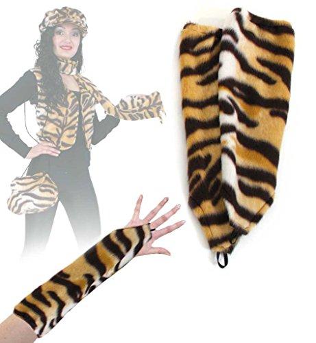he, Einfinger, Tier - Muster, viele versch. Ausführungen, große Auswahl, für Erwachsene, Arm Sleeves, Accessoire, ideal für Karneval (Tiger) (Tiger Kostüm-muster)