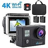 Sport Camera, SEGURO 4K WIFI Action Camera 16MP Ultra HD Impermeabile Fotocamera Subacquea LCD Doppio Schermo, 170 Grado Lente Ultra-Grandangolare, 2 Batterie, Telecomando e Kit di Accessori