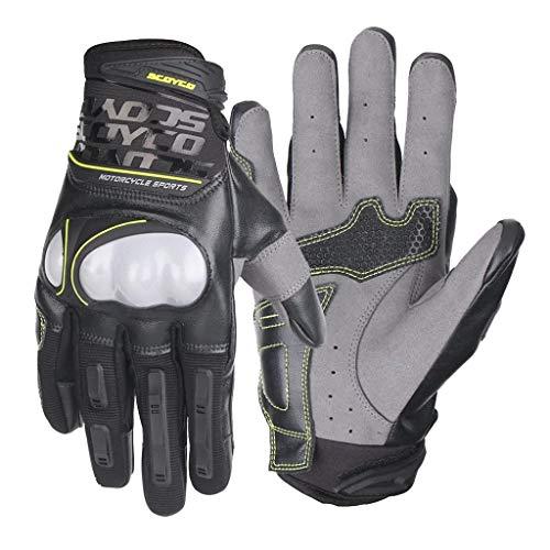 Vollfinger-Handschuhe für Motorrad Bike Outdoor Sports Breathable Micro Fibre Leder Schut