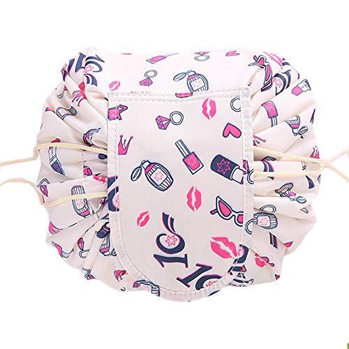 DOXMAL Kosmetiktasche, Kulturtasche Make up Tasche Waschtasche One Step Cosmetic Organizer Lazy Bag Make-Up Damen Tasche Beauty Case groß (Lippenstift)