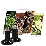 Aiicioo-75-Watt-Reptile-Heating-Lamp-Ceramic-Emitter-Heater-with-E27-Socket-Black-220-240-Volt