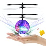 RC Flying Ball Mini Flugzeug Hubschruber infrared Induction Helicopter Shining LED Lichter Fernbedienung Spielzeug Flying Toy für Jungen Mädchen(Zufällige Farben)